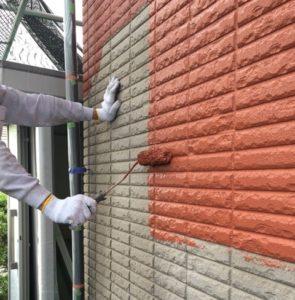 1F外壁中塗り