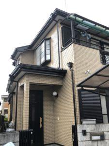 加須市 外壁塗装 ダブルトーン セミフロン 施工完了