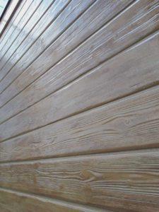 外壁塗装 セミフロンスーパーマイルドⅡクリヤー 木目調